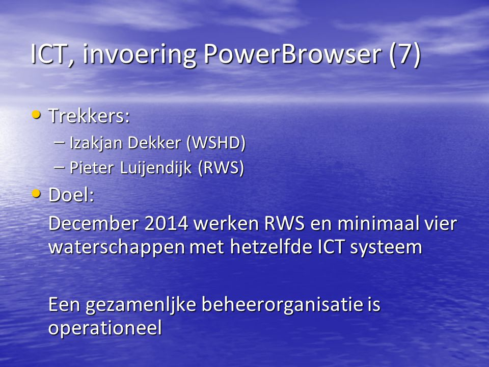 ICT, invoering PowerBrowser (7)