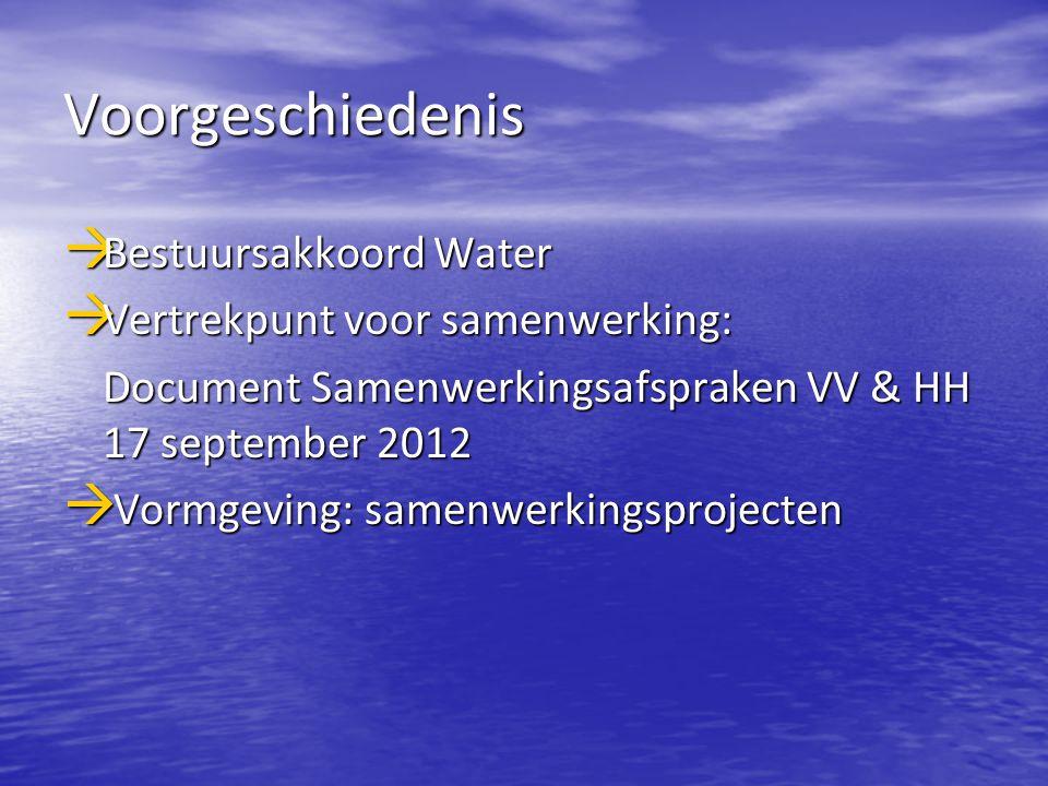 Voorgeschiedenis Bestuursakkoord Water Vertrekpunt voor samenwerking: