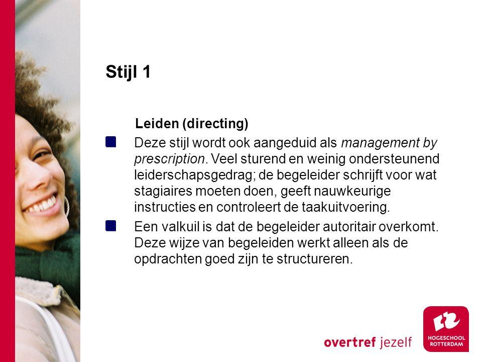 Stijl 1 Leiden (directing)