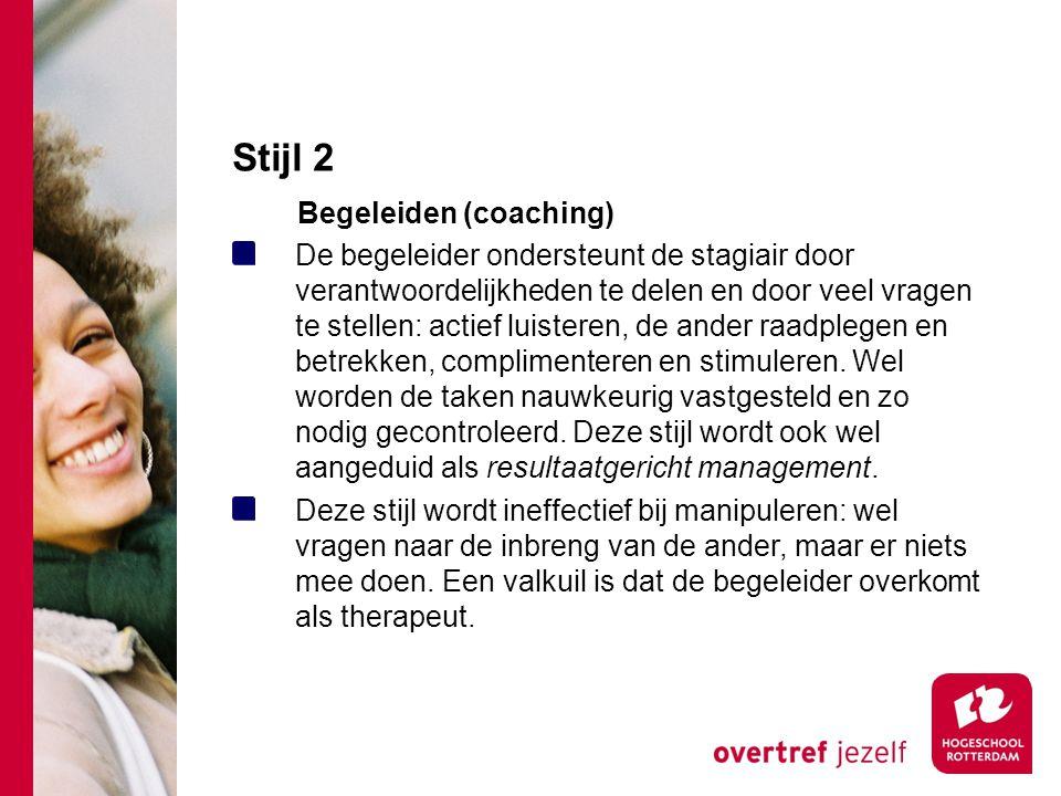 Stijl 2 Begeleiden (coaching)