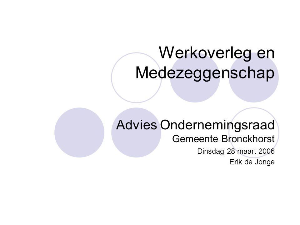 Werkoverleg en Medezeggenschap