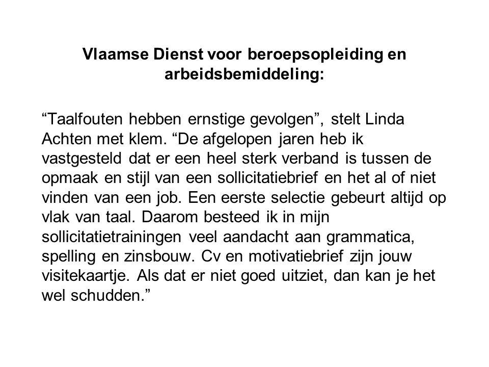 Vlaamse Dienst voor beroepsopleiding en arbeidsbemiddeling: