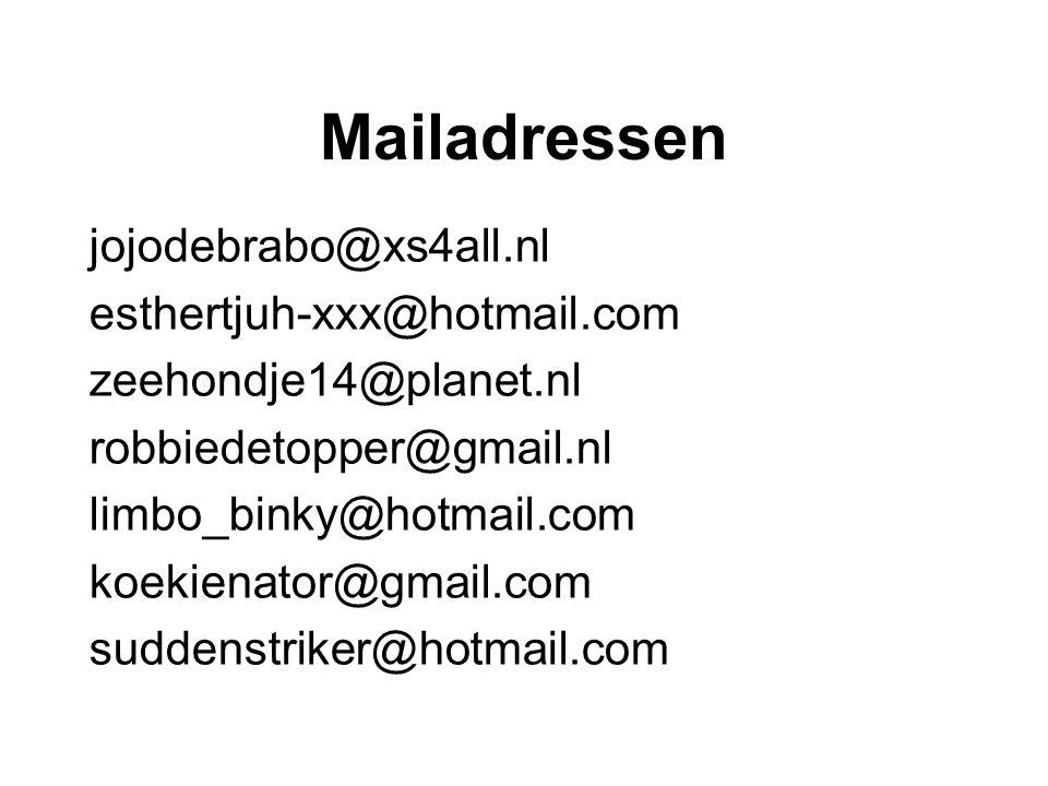 Mailadressen