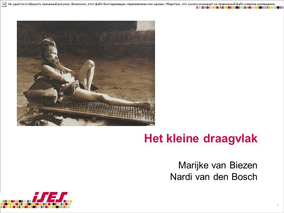 Het kleine draagvlak Marijke van Biezen Nardi van den Bosch