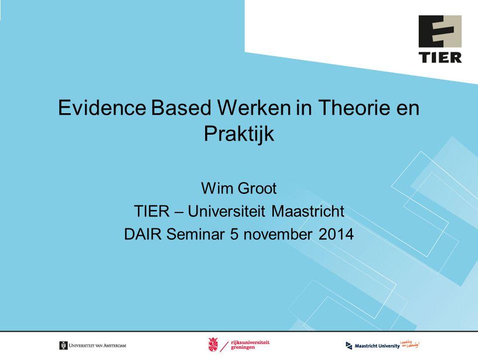 Evidence Based Werken in Theorie en Praktijk