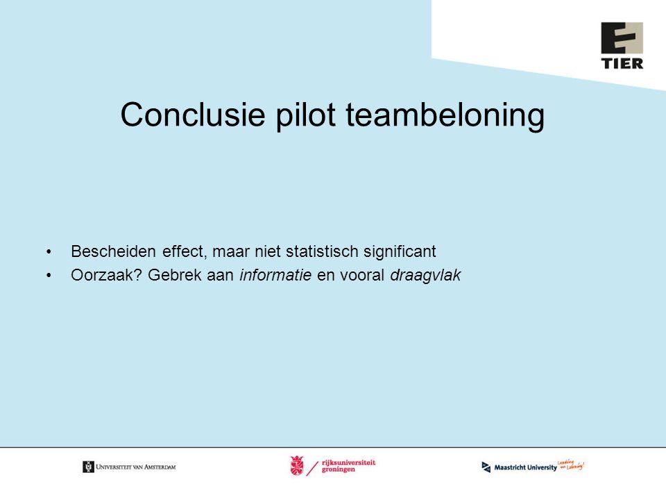 Conclusie pilot teambeloning