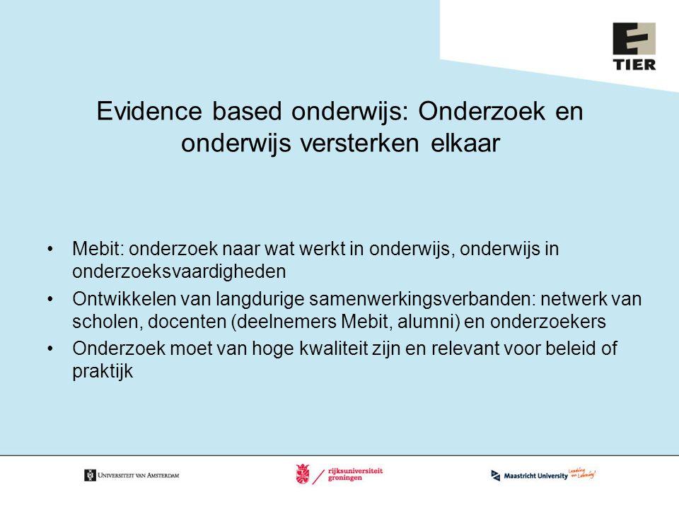 Evidence based onderwijs: Onderzoek en onderwijs versterken elkaar