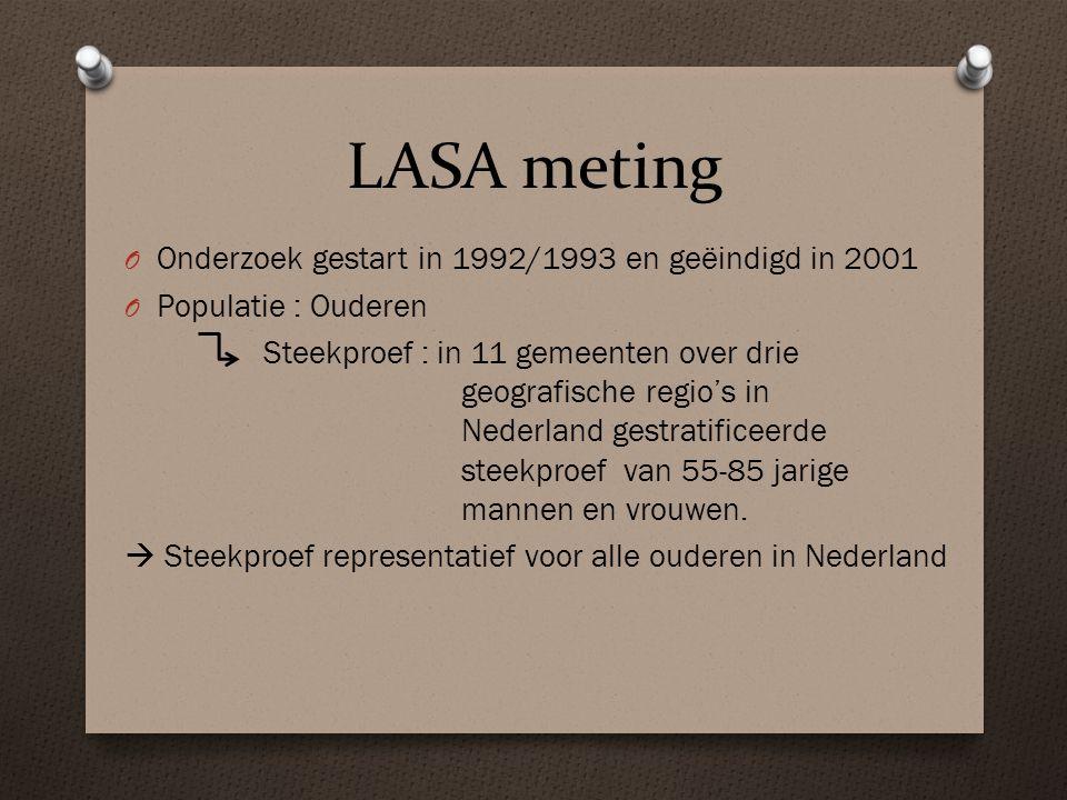 LASA meting Onderzoek gestart in 1992/1993 en geëindigd in 2001