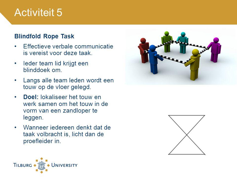 Activiteit 5 Blindfold Rope Task
