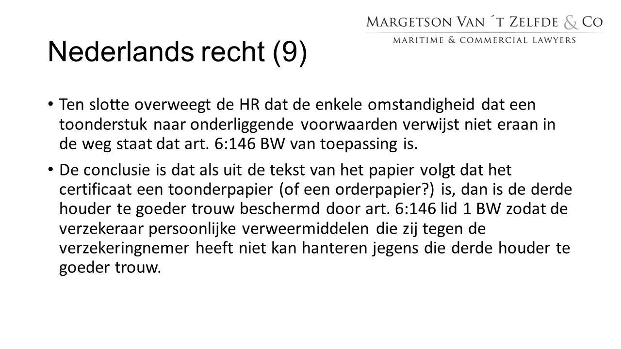Nederlands recht (9)