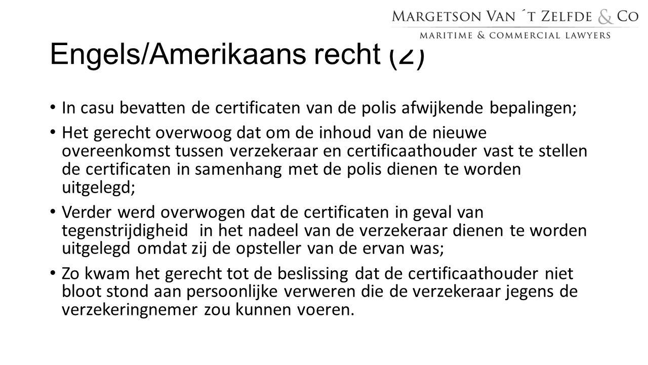 Engels/Amerikaans recht (2)