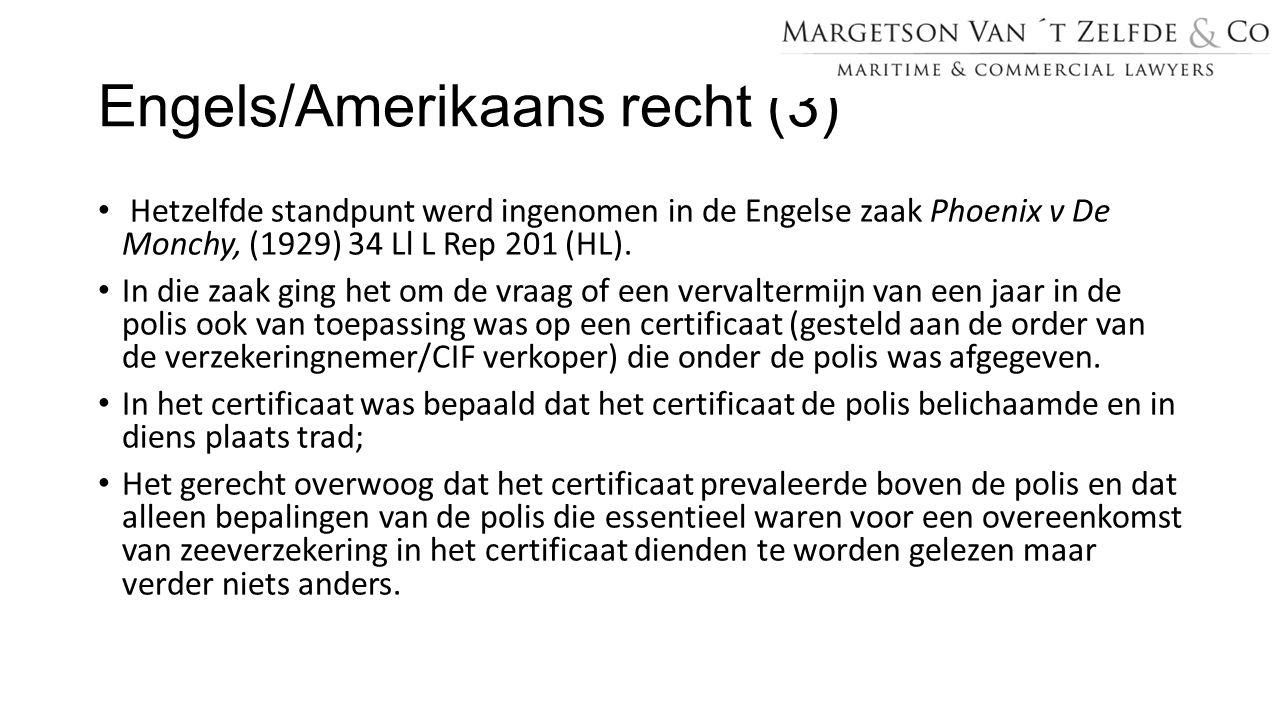 Engels/Amerikaans recht (3)