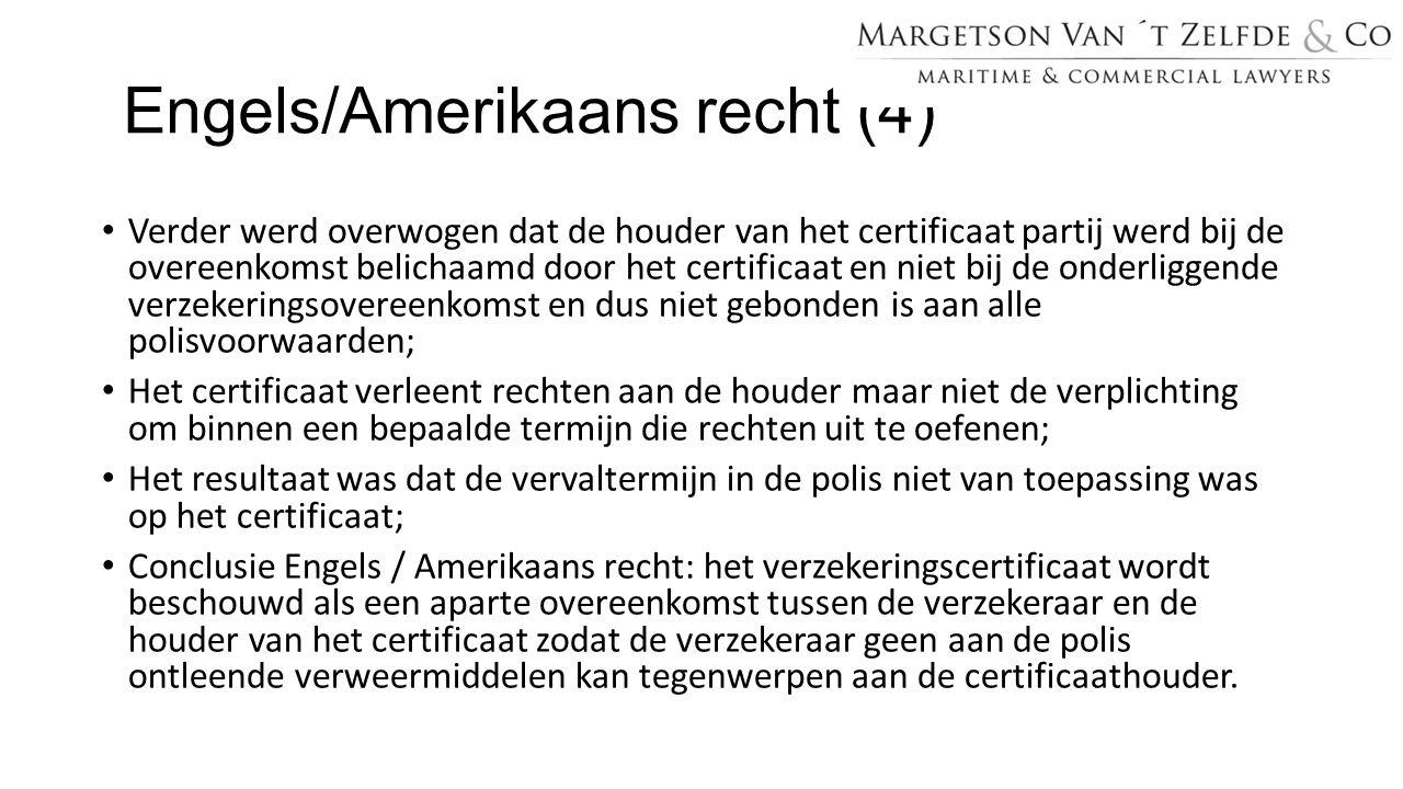 Engels/Amerikaans recht (4)
