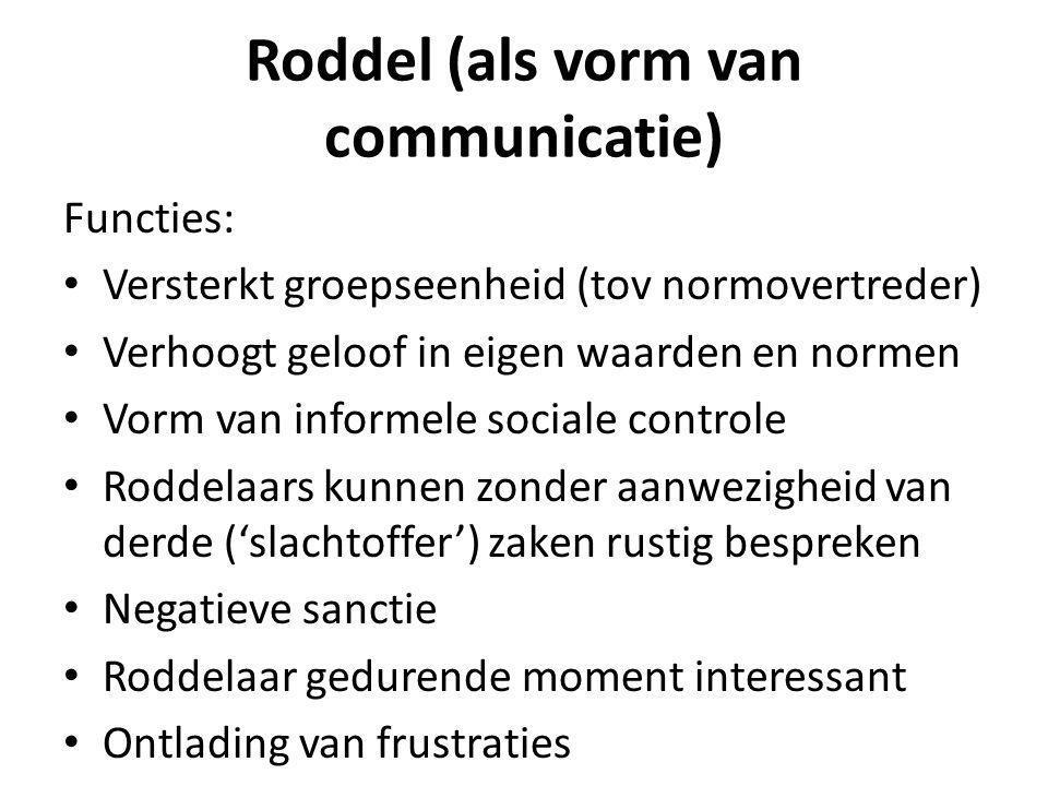 Roddel (als vorm van communicatie)