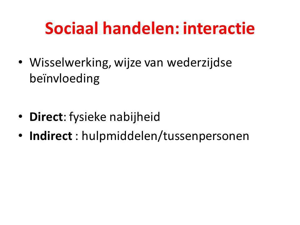Sociaal handelen: interactie
