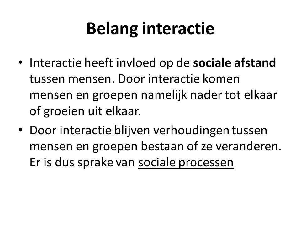 Belang interactie