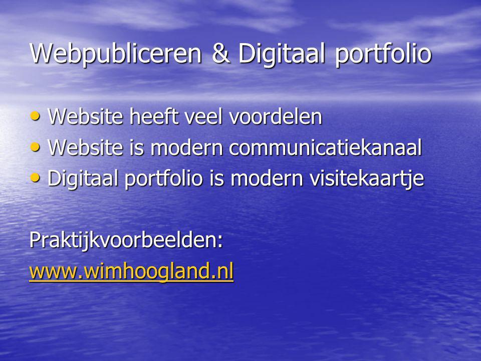 Webpubliceren & Digitaal portfolio