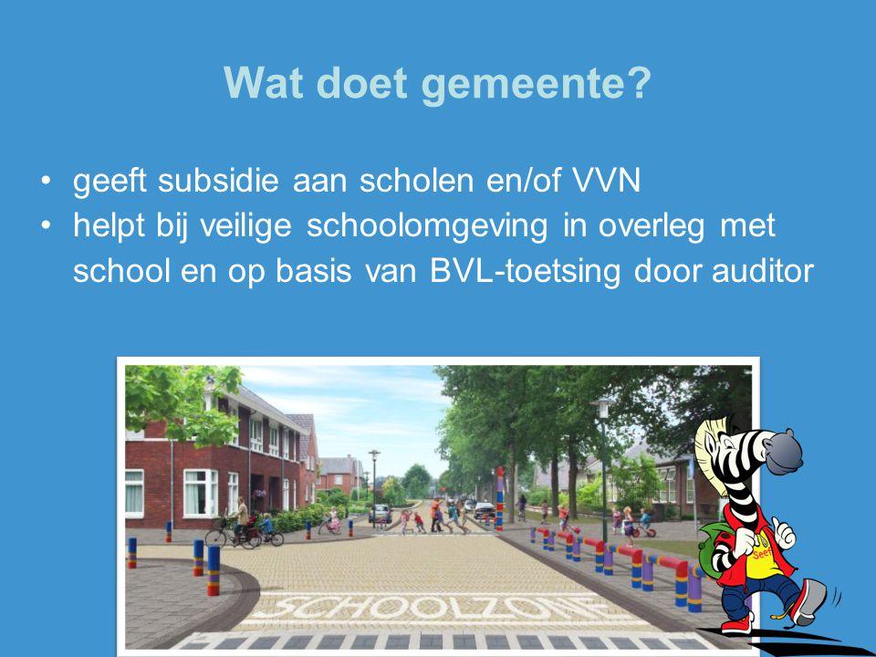 Wat doet gemeente geeft subsidie aan scholen en/of VVN