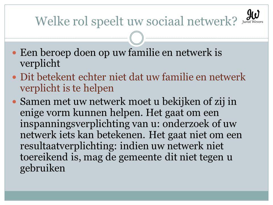 Welke rol speelt uw sociaal netwerk