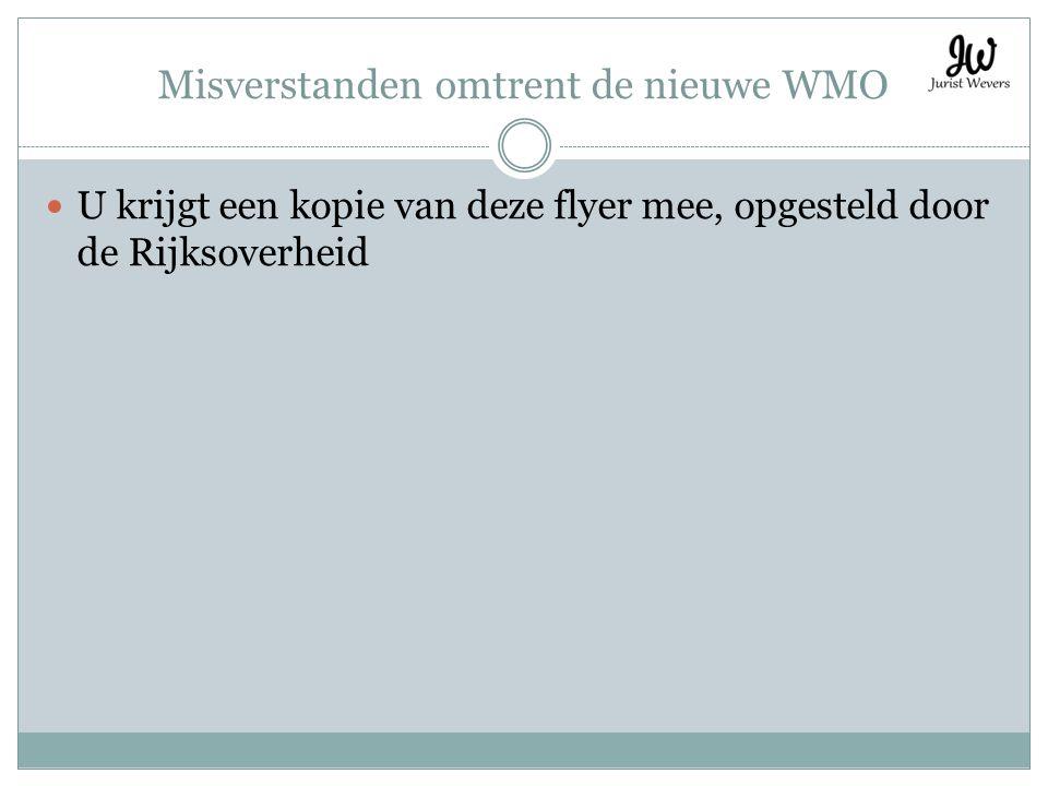 Misverstanden omtrent de nieuwe WMO