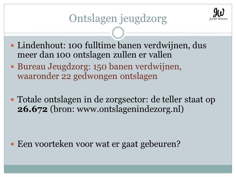 Ontslagen jeugdzorg Lindenhout: 100 fulltime banen verdwijnen, dus meer dan 100 ontslagen zullen er vallen.