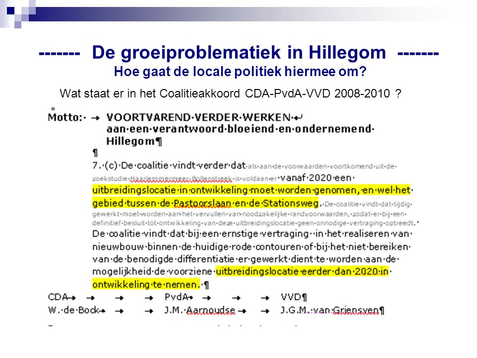 Wat staat er in het Coalitieakkoord CDA-PvdA-VVD 2008-2010