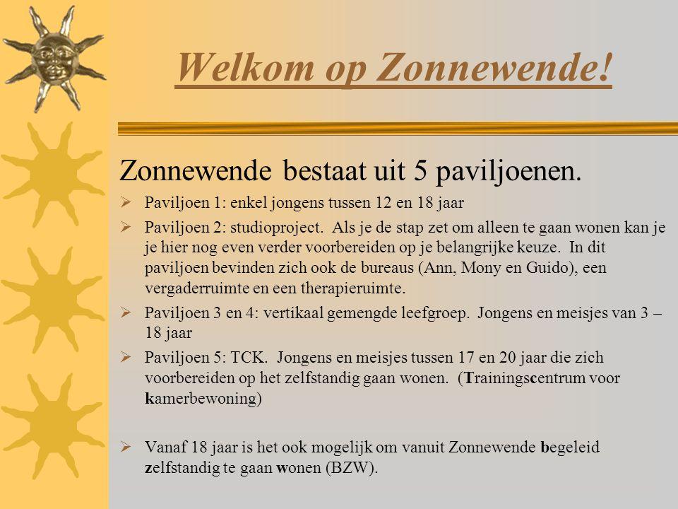Welkom op Zonnewende! Zonnewende bestaat uit 5 paviljoenen.