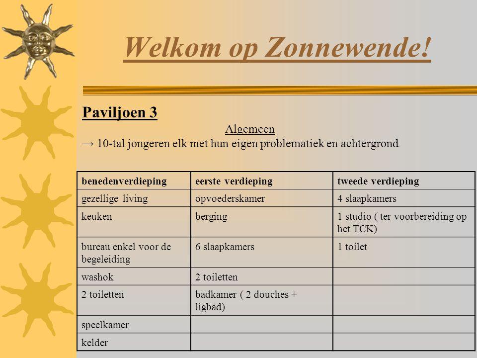 Welkom op Zonnewende! Paviljoen 3