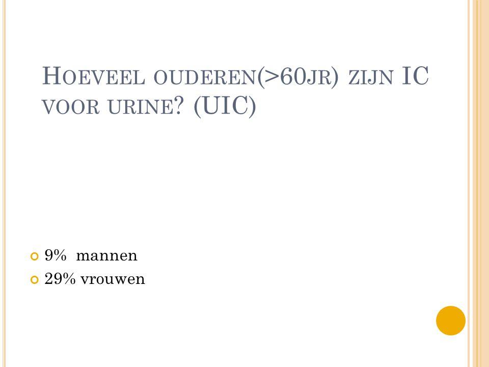 Hoeveel ouderen(>60jr) zijn IC voor urine (UIC)