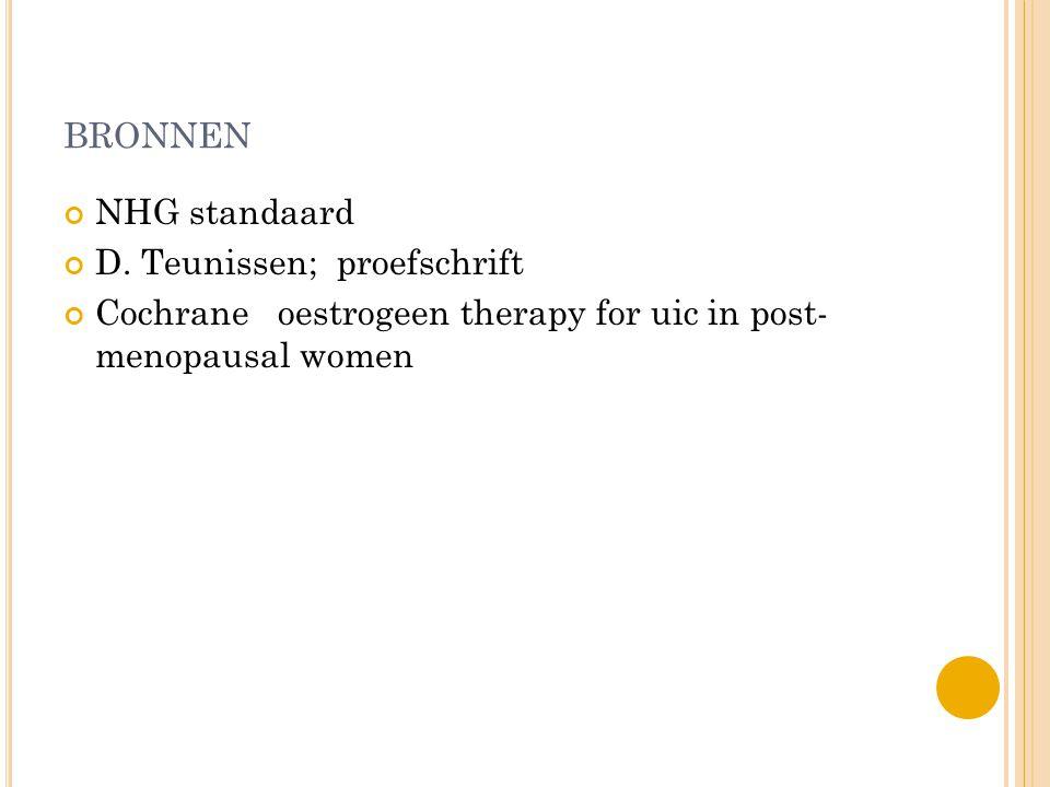 bronnen NHG standaard D. Teunissen; proefschrift