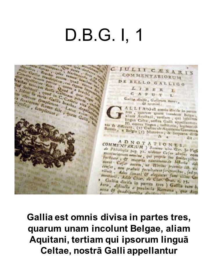 D.B.G. I, 1