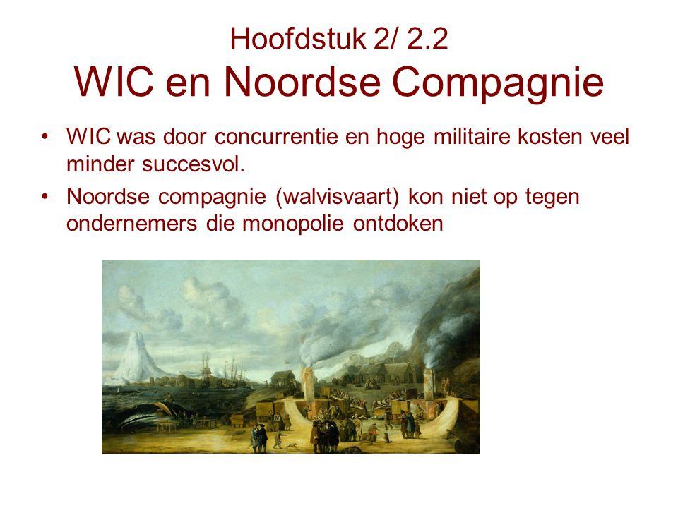 Hoofdstuk 2/ 2.2 WIC en Noordse Compagnie