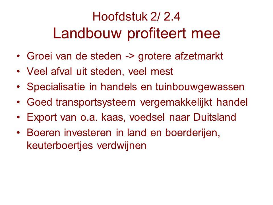 Hoofdstuk 2/ 2.4 Landbouw profiteert mee