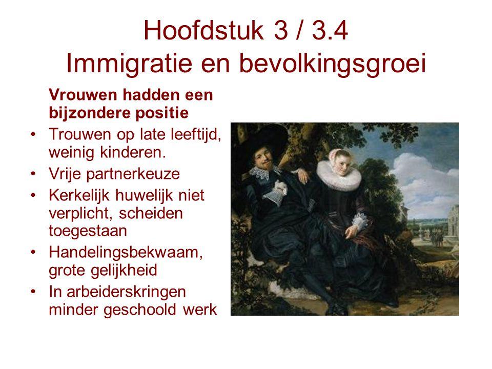Hoofdstuk 3 / 3.4 Immigratie en bevolkingsgroei