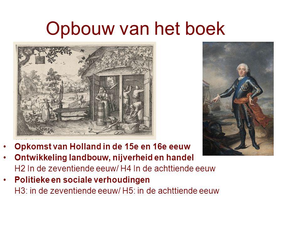 Opbouw van het boek Opkomst van Holland in de 15e en 16e eeuw
