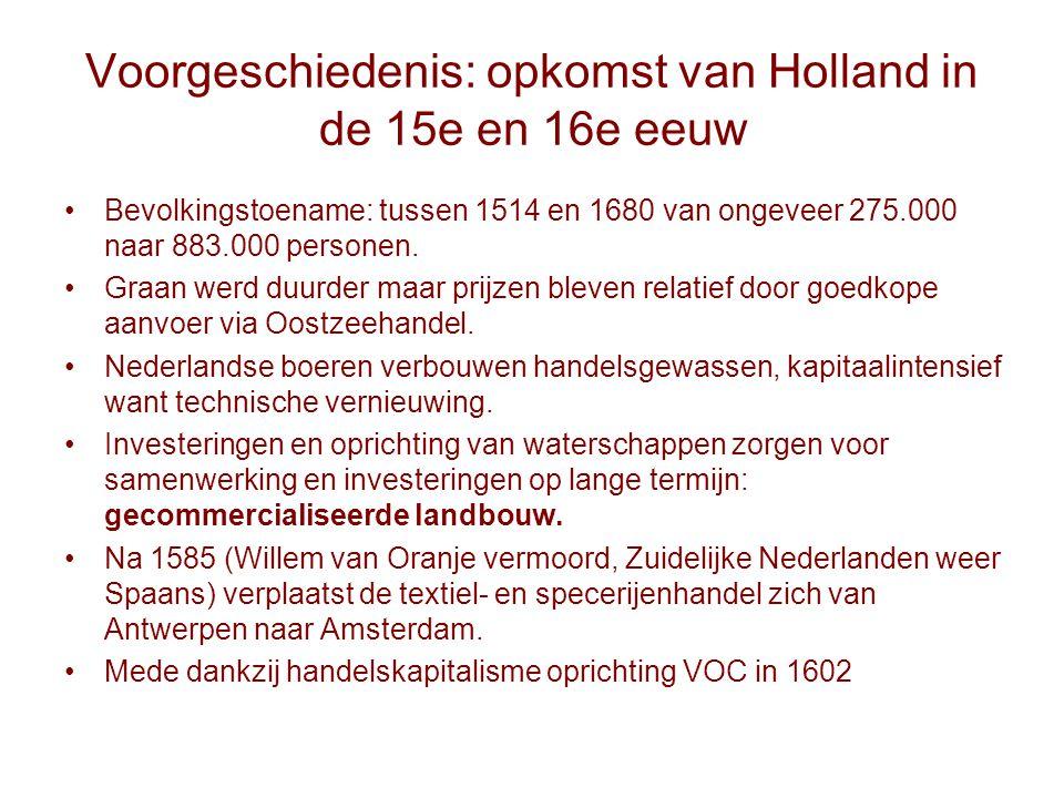 Voorgeschiedenis: opkomst van Holland in de 15e en 16e eeuw