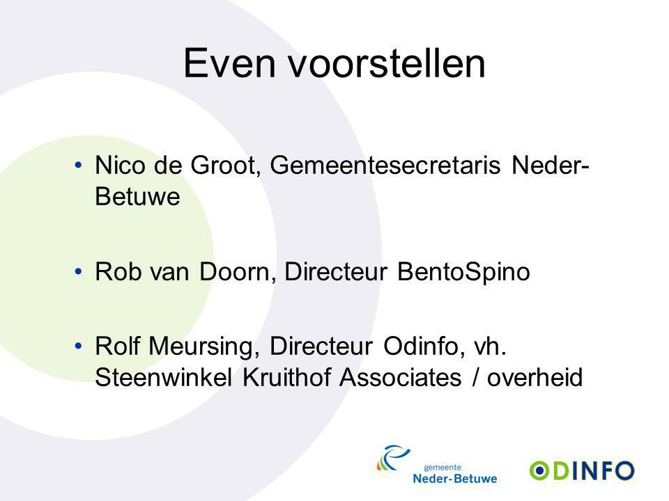 Even voorstellen Nico de Groot, Gemeentesecretaris Neder-Betuwe