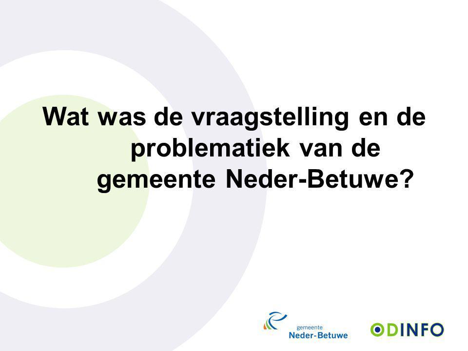 Wat was de vraagstelling en de problematiek van de gemeente Neder-Betuwe