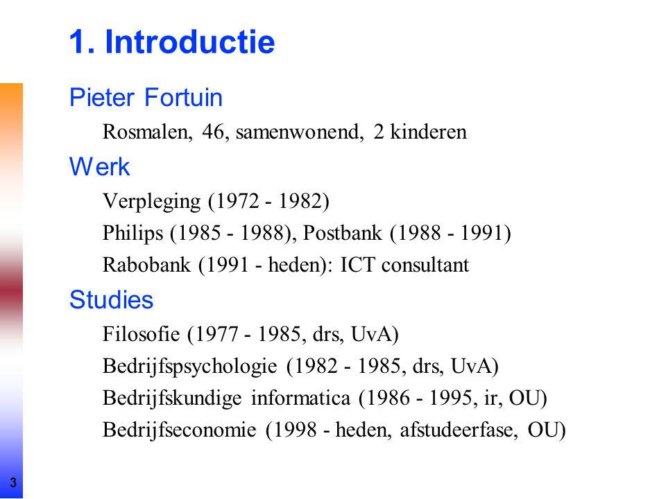 1. Introductie Pieter Fortuin Werk Studies