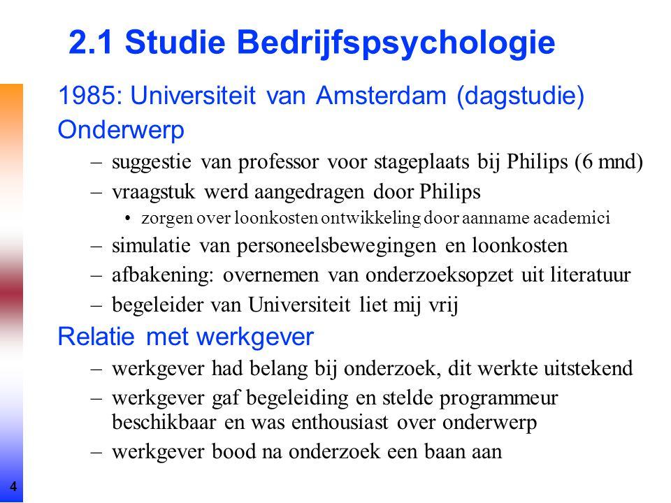 2.1 Studie Bedrijfspsychologie