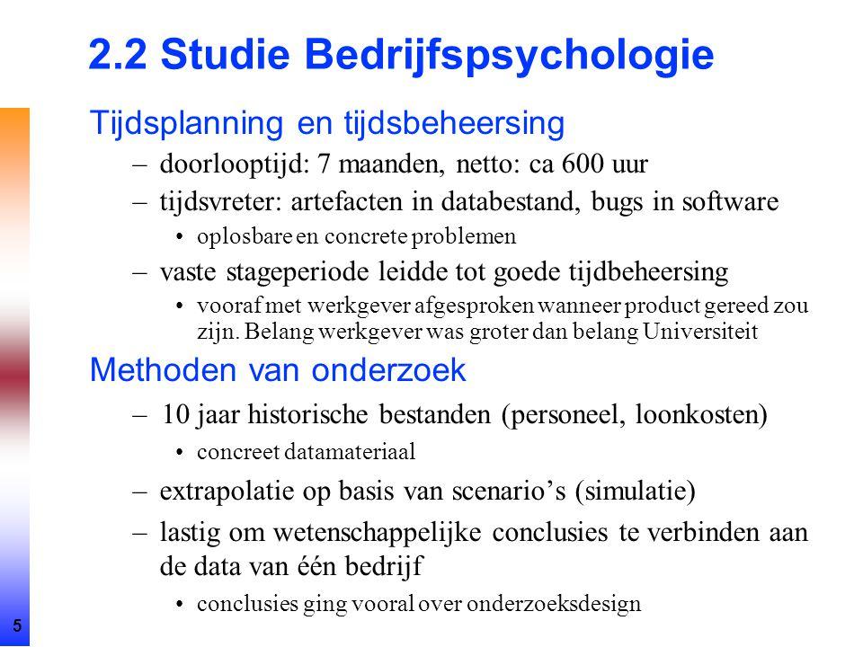 2.2 Studie Bedrijfspsychologie