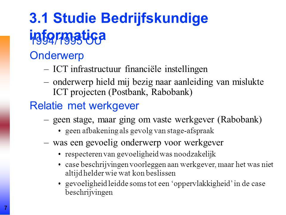 3.1 Studie Bedrijfskundige informatica