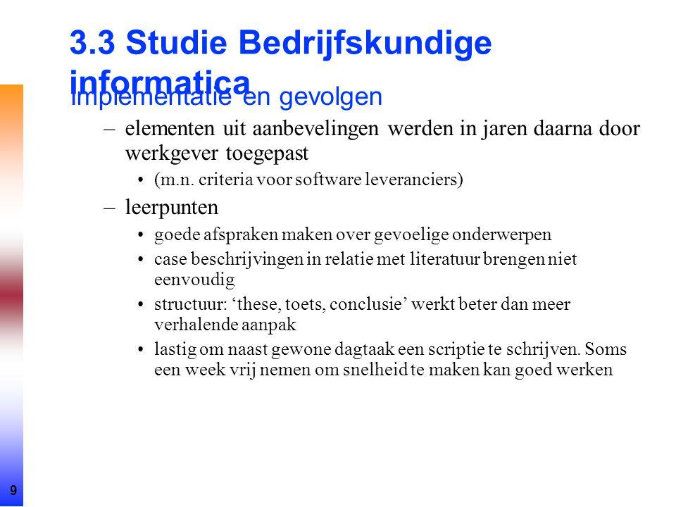 3.3 Studie Bedrijfskundige informatica