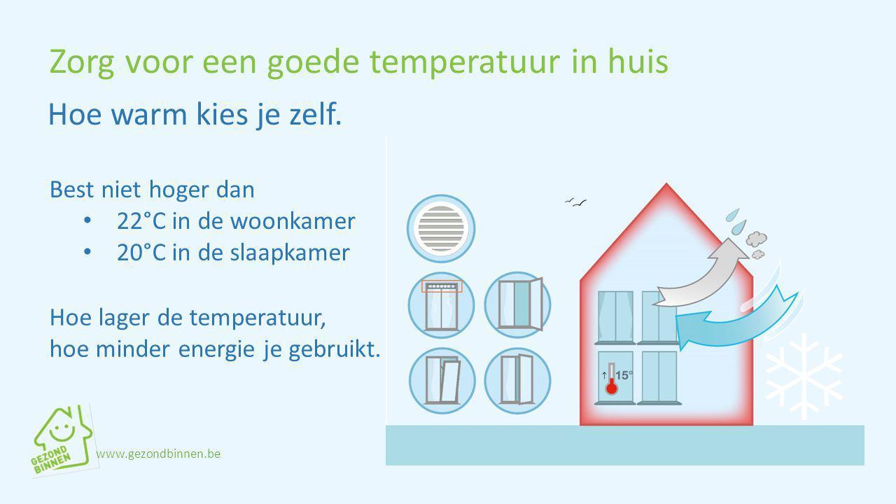 Zorg voor een goede temperatuur in huis