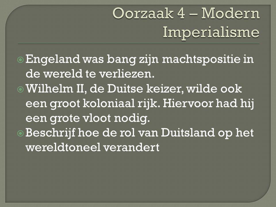 Oorzaak 4 – Modern Imperialisme