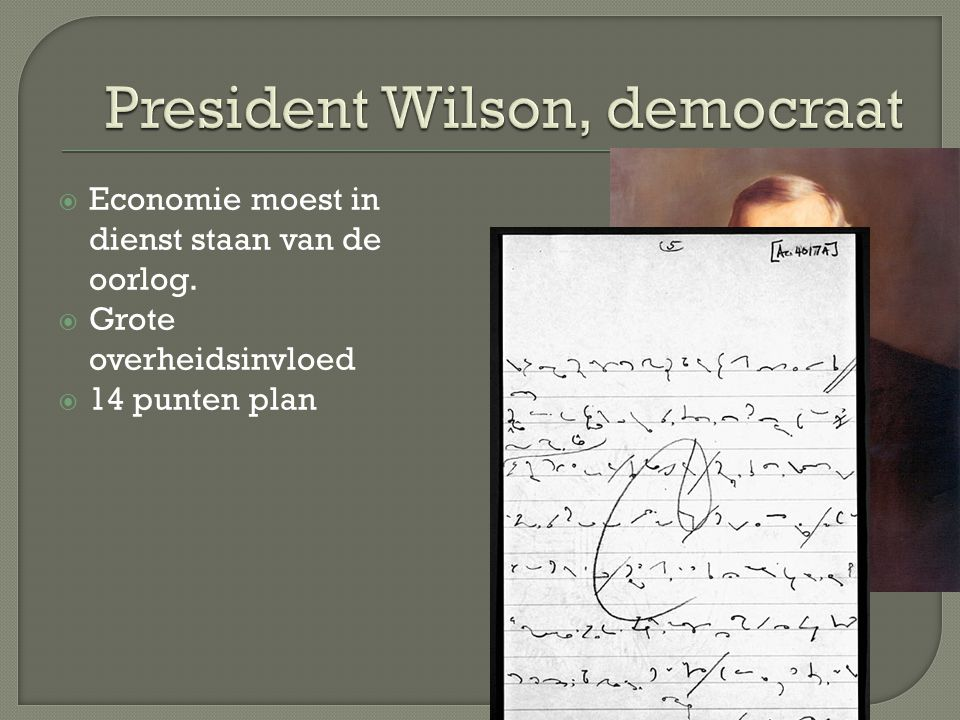 President Wilson, democraat