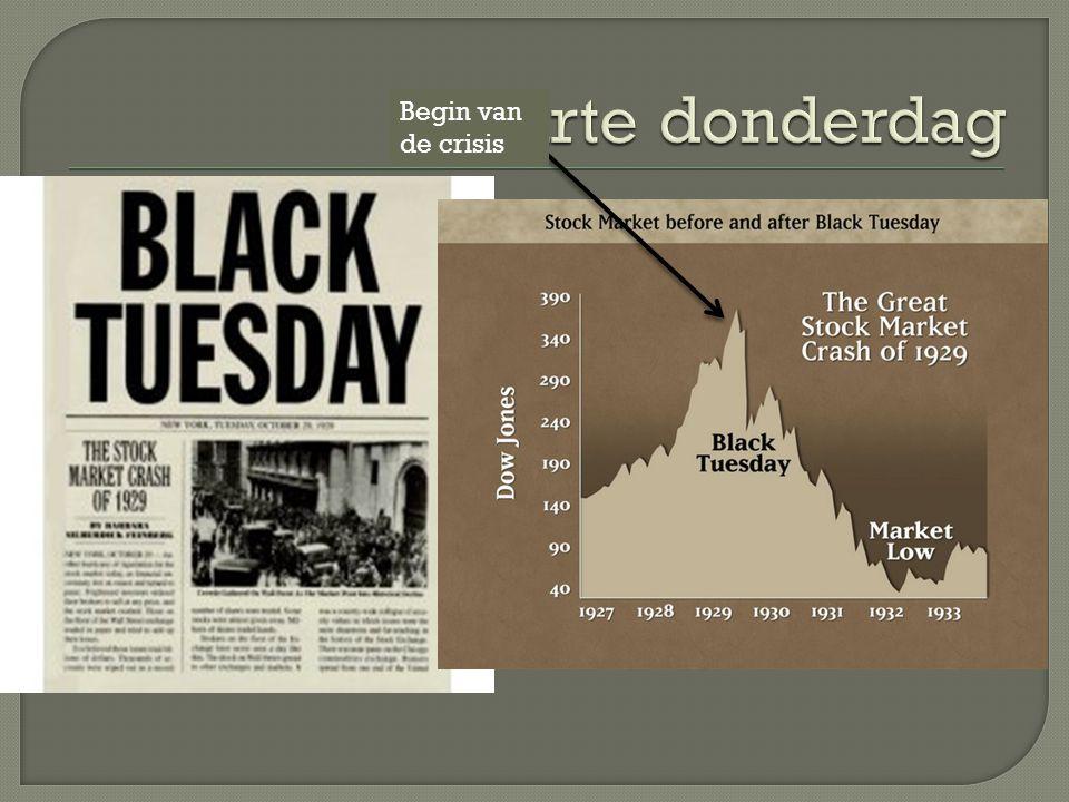 Zwarte donderdag Begin van de crisis