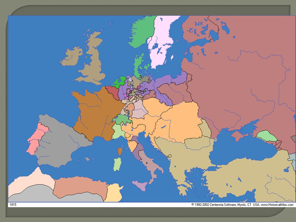 Europa in 1815