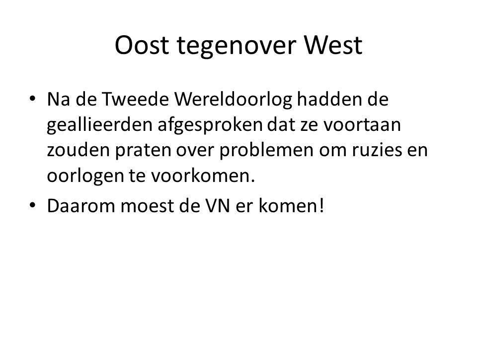 Oost tegenover West