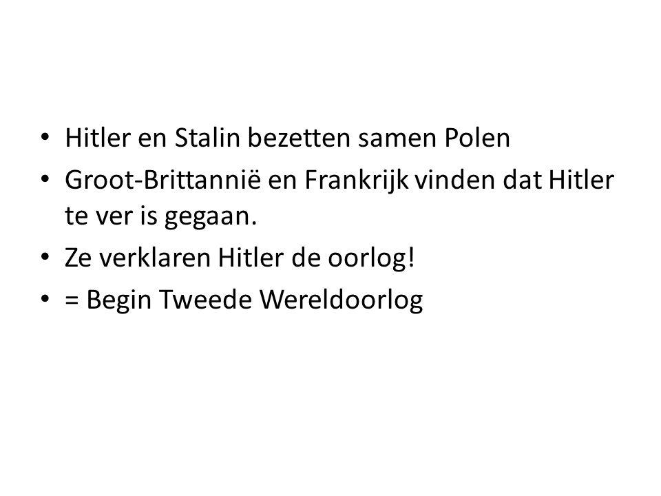 Hitler en Stalin bezetten samen Polen